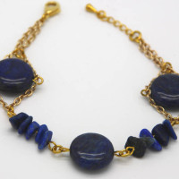 Lapis Bracelet, Morecambe, Pam Bradley, Pumjum, Jewellery, vintage, handmade, cumbria, retro, costume jewellery, The Jewllery parlour, lancashire, lapis, bracelet, handmade