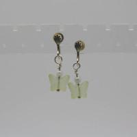 Butterfly Pearl Earrings, Morecambe, Pam Bradley, Pumjum, Jewellery, vintage, handmade, cumbria, retro, costume jewellery, The Jewllery parlour, lancashire, earrings, handmade, butterflies, pearls