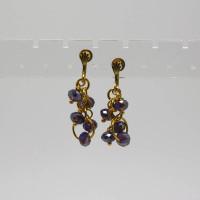 Aurora Borealis Purple Crystal Earrings, Morecambe, Pam Bradley, Pumjum, Jewellery, vintage, handmade, cumbria, retro, costume jewellery, The Jewllery parlour, lancashire, crystal, handmade, earrings
