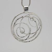 Handmade Sterling Silver Necklace - Unique Design, Morecambe, Pam Bradley, Pumjum, Jewellery, vintage, handmade, cumbria, retro, costume jewellery, The Jewllery parlour, lancashire, sterling silver, necklace, handmade, unique