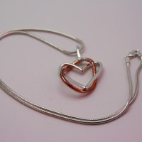 eternal love, the jewellery parlour, pam bradley, morecambe, lancashire, cumbria, necklace, silver, heart, eternity