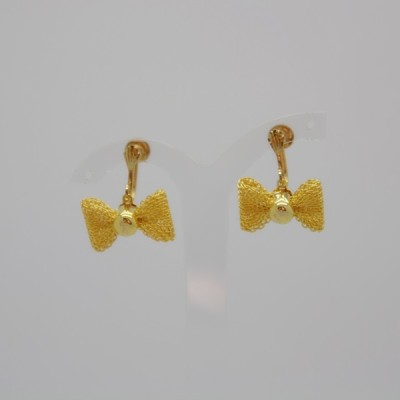 little princess beautiful bows,screw-back,screwback,earrings,gold,the jewellery parlour,pam bradley,morecambe,lancashire,cumbria